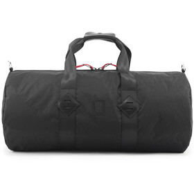 Topo Designs Classic Duffelilaukku, ballistic black/black leather
